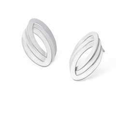 Triple Oval Link Post Earrings