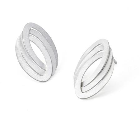 Triple Oval Link Post Earrings