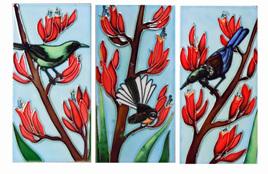 Triptych Flax set of 3