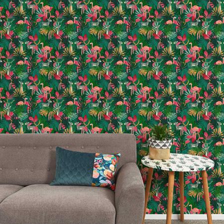 Tropical jungle wallpaper - lush