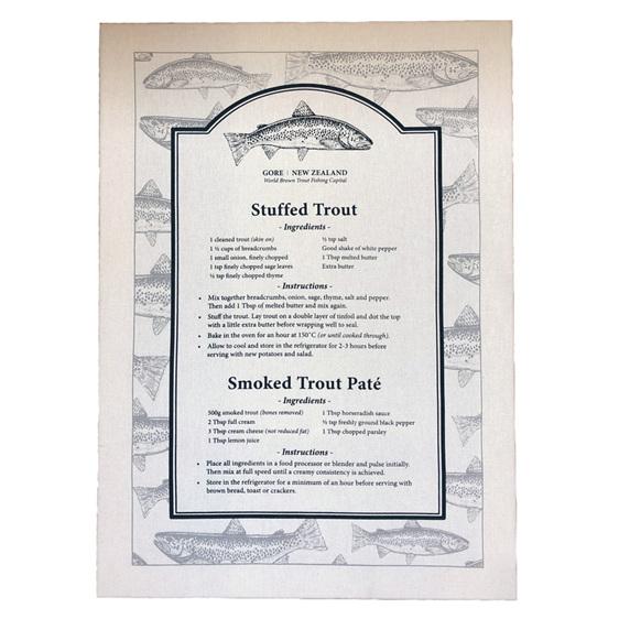 Trout Recipe Towel
