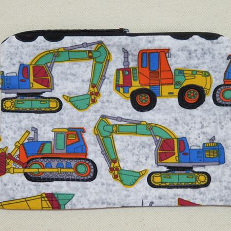 Trucks & Diggers Pencil Case - Medium
