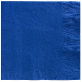 True Blue Beverage Napkins x 20