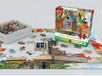 Trumpet Vines & Tree Sparrows 300XL puzzle by Eurographics  www.puzzlesnz.co.nz