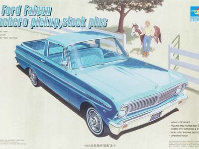 Trumpeter 1/25 Ford Falcon Ranchero Pickup, Stock Plus