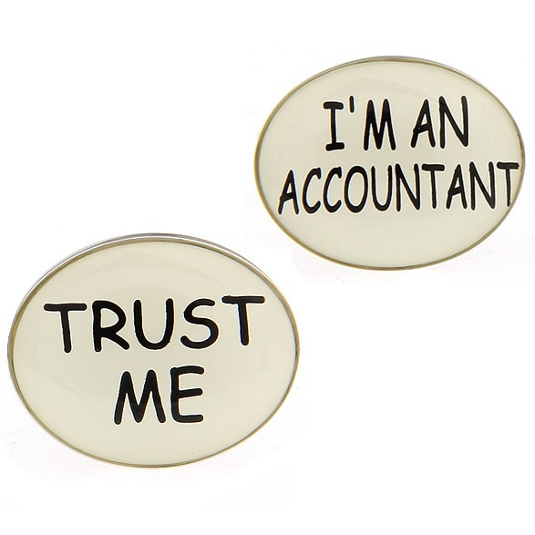 Trust Me I'm an Accountant Cufflinks | On the Cuff