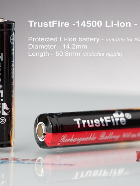 TrustFire - 14500 Li-ion - 900mAh