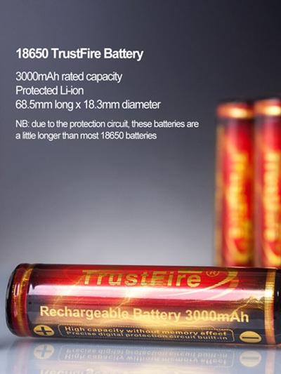 TrustFire - 18650 Li-ion - 3000mAh