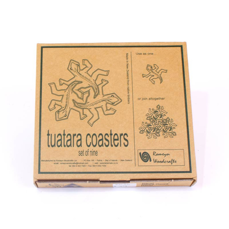 tuatara coasters packaging