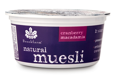 Tub Natural Muesli with Cranberry - 75g