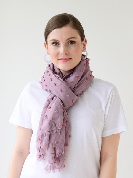 Tuffs & Squares Scarf - Pale Pink