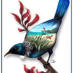 Tui 2 Birds Eye View - A4 Print