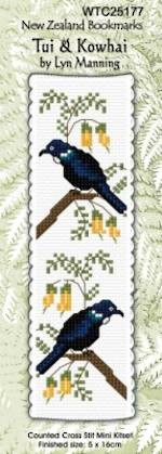 Tui and Kowhai Bookmark Stitching Kit