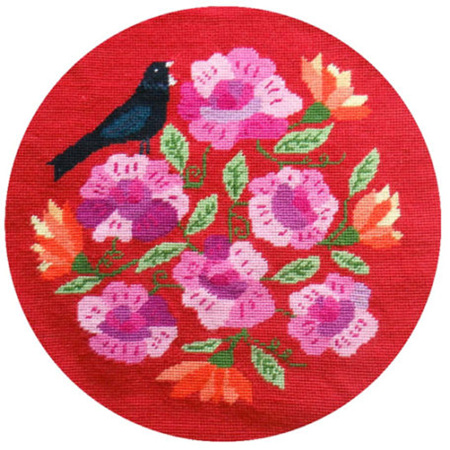 Tui and the Roses Footstool by Jennifer Pudney