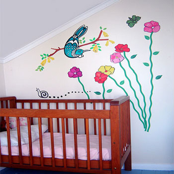 Tui In The Yard wall decal