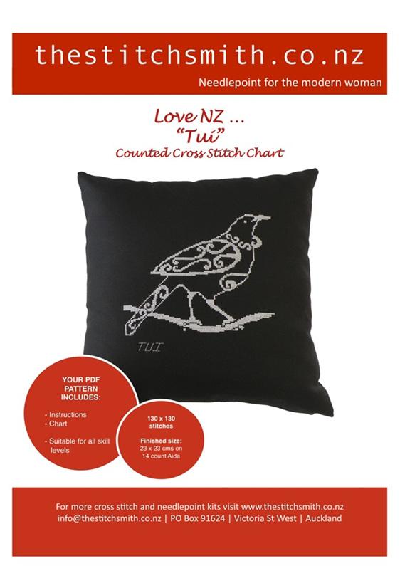 Tui counted cross stitch chart