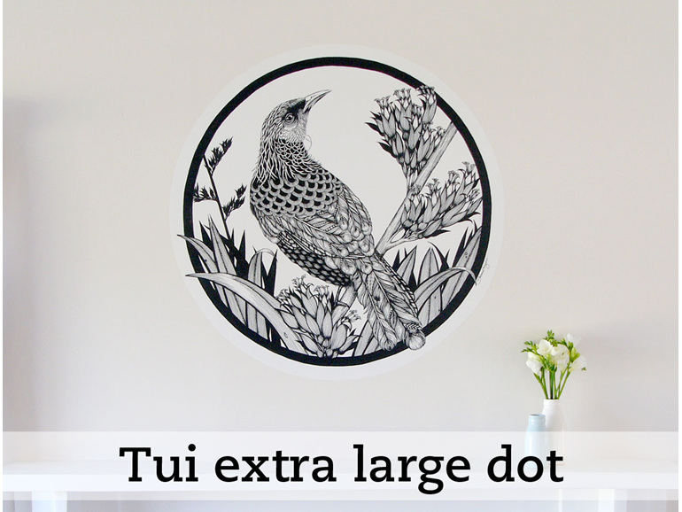 Tui dot wall decal