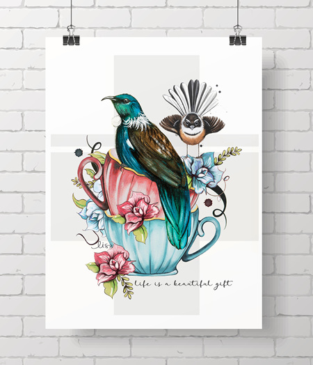 tui & fantail - life is a beautiful gift