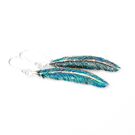 Tui Feather Earrings