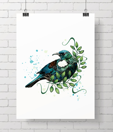 Tui in Pencil - Limited edition - A3