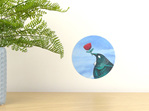 Tui loves... wall decal tiny