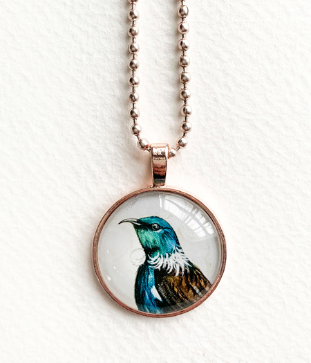 Tui pendant necklace - rose gold
