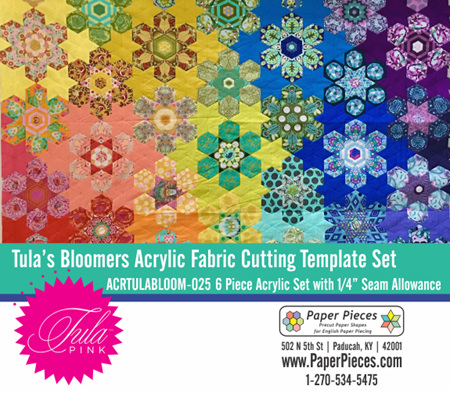 Tula Bloomers Acrylic Templates (Choose Your Seam Allowance)