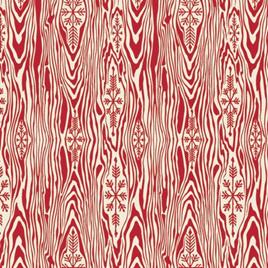 Tula Pink Holiday Homies PWTP109 Yule Log Red