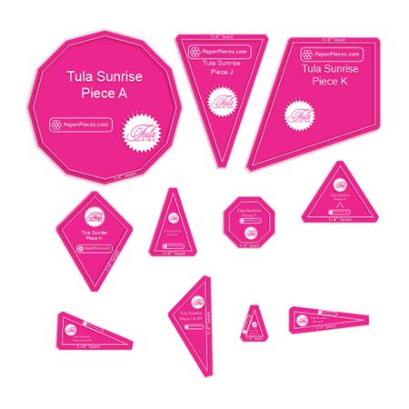 Tula Sunrise 11 Piece Acrylic Template Set (Choose Your Seam Allowance)