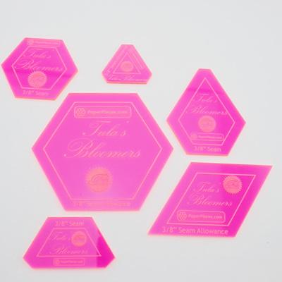 Tula's Bloomers Acrylic Fabric Cutting Template Set