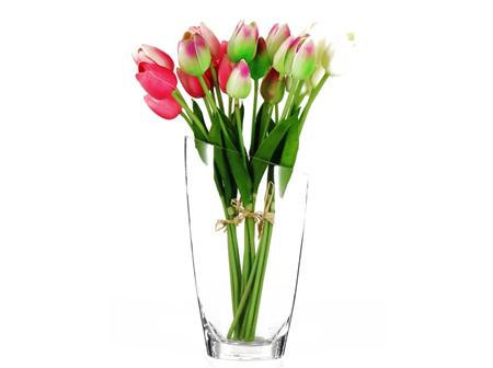Tulip Bouquet 8 Heads Pink-Green