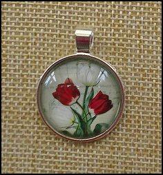 Tulip Glass Dome Necklaces
