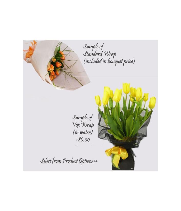 tulip paper wrap