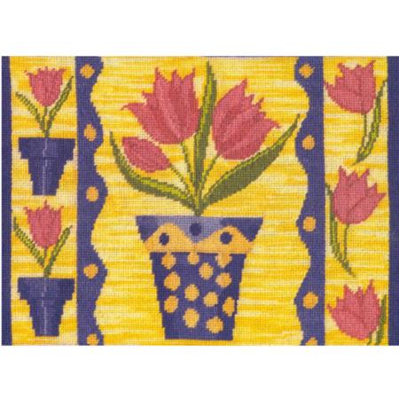 Tulip Sunday Needlepoint Cushion Kit by Mary Self