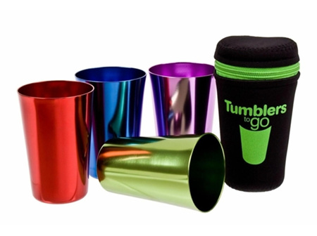 Tumblers to Go 265ml 4 pack in Tote