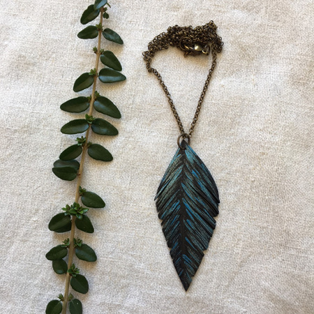 Tumeke Necklace with Blue