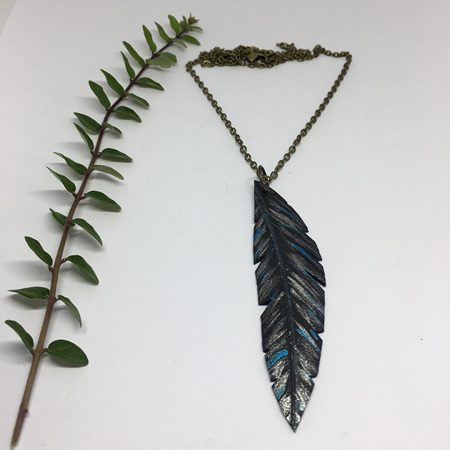 Tumeke Necklace with Silver & Blue