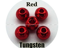 Tungsten Beads - Red