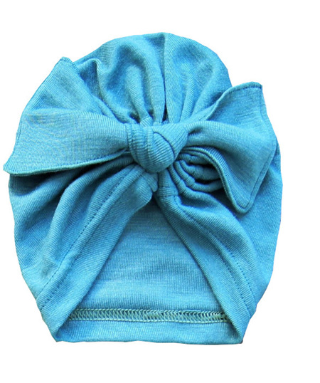 Turban Hat, 'Sage' 73-27 Merino-Cotton, 6 mths - Toddler size