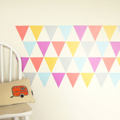Turkish Delight triangles wall decal