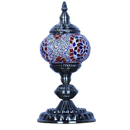 Turkish Mosaic Lamp Small Flower Burst
