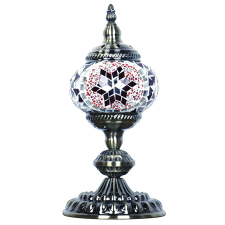 Turkish Mosaic Lamp Small Red