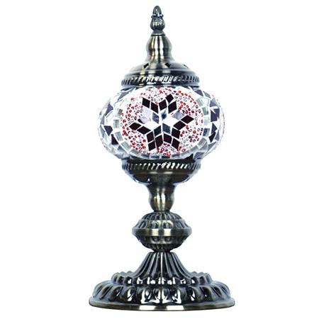 Turkish Mosaic Lamp Small Red
