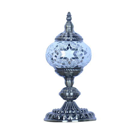 Turkish Mosaic Lamp Small White