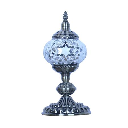 Turkish Mosaic Lamp Small White