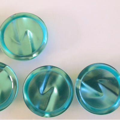 Shiny dome turquoise buttons