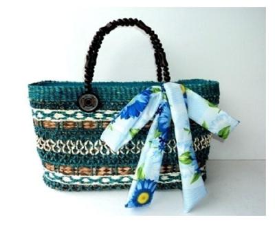 Turquoise Cataleya Handbag - Free Shipping
