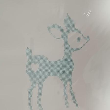 Turquoise Deer Prints