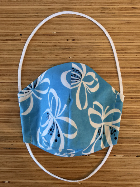 Turquoise floral face mask