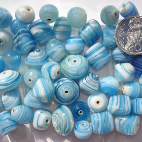 Turquoise Marble Bead Mix